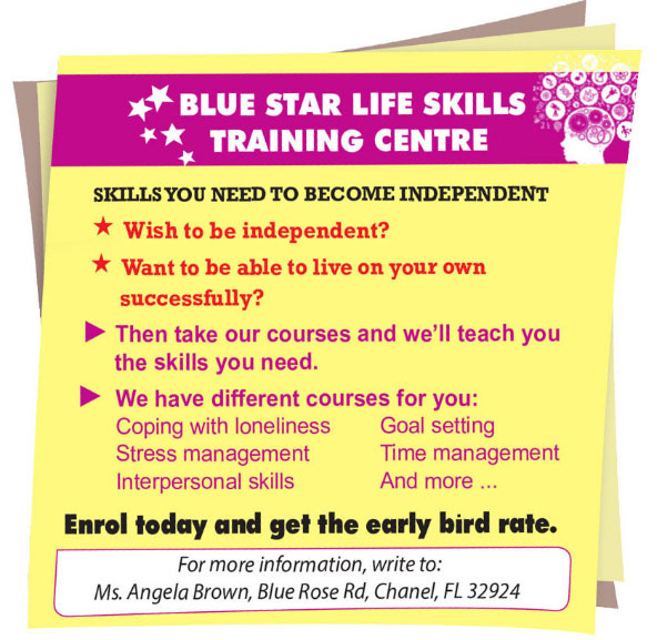 Lop 11 moi.unit 3.Writing.1. Read the advertisement for life skills courses in Teenage Magazine below and answer the questions-1