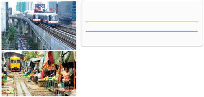 Lop-12-moi.unit-2.Communication-and-Culture.II. Culture.1. Look at the two photos of Bangkok, Thailand. What aspects of city life do they show