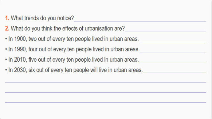 Lop 12 moi.unit 2.Listening.1. Look at the following statistics about urbanisation and then answer the questions