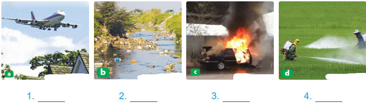 Lop 10 moi.unit 9.Reading.1. What do you think the environmental impact in each photo is? Read the text quickly and check your answers