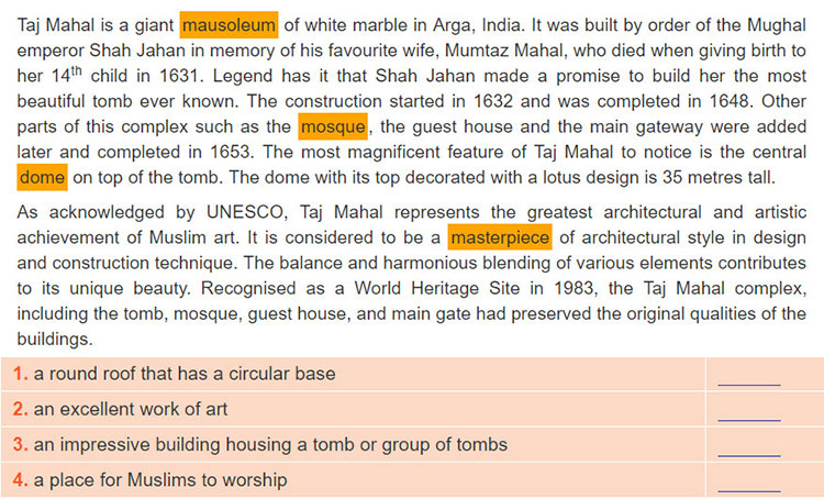 Lop-11-moi.unit-8.Communication-and-Culture.II.-CULTURE.2. Read the text. Match the highlighted words in the text with the definitions below