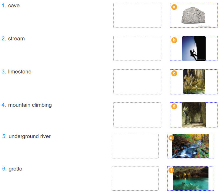 Lop-11-moi.unit-8.Listening.2. Match the words with the correct pictures