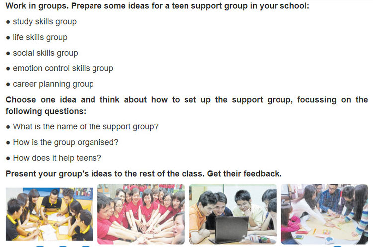 Lop 9 moi.unit 3.Project.Teen support group