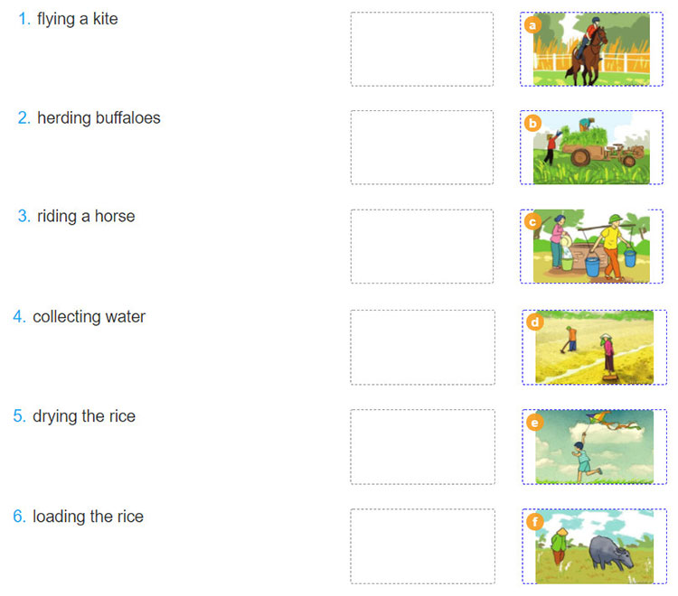 tieng-anh-lop-8-moi.unit-2.Getting-Started.2. Match the activities with the pictures