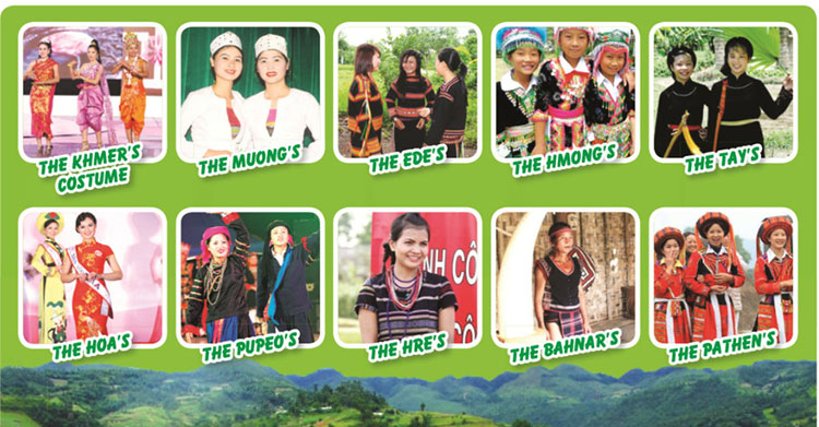 tieng-anh-lop-8-moi.unit-3.Project.1. Look at the different costumes of some ethnic groups. Which costume do you like best