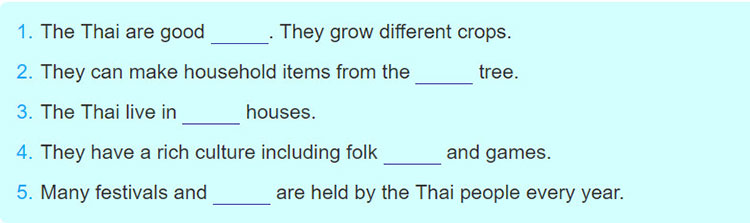tieng-anh-lop-8-moi.unit-3.Skills-1.2. Complete each sentence, using a word from the text