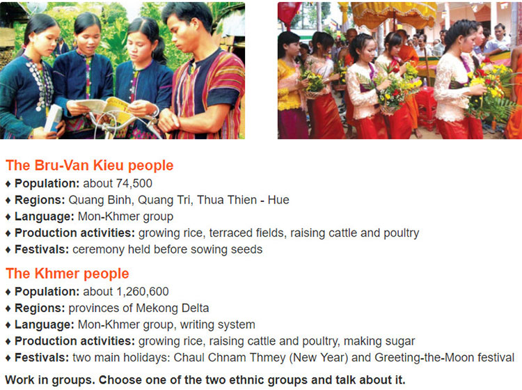 tieng-anh-lop-8-moi.unit-3.Skills-1.4. Read some facts about the Bru-Van Kieu people and the Khmer people
