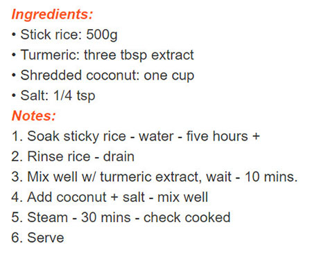 tieng-anh-lop-8-moi.unit-3.Skills-2.4. Read the notes on how to make yellow sticky rice