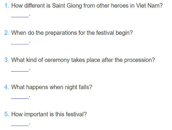 tieng-anh-lop-8-moi.unit-5.Skills-2.3. Listen to talk again and write answers to the questions below