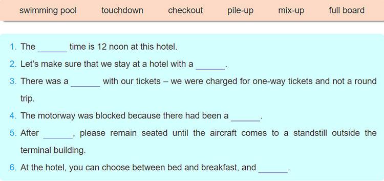 tieng-anh-lop-9-moi.unit-8.A-Closer-Look-1.4. Complete the sentences using the compound nouns below