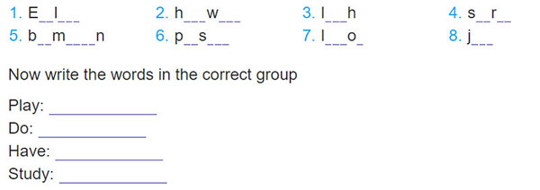 tieng-anh-lop-6-moi.Review-1.Unit-1,-2,-3.Language.3. Complete the words