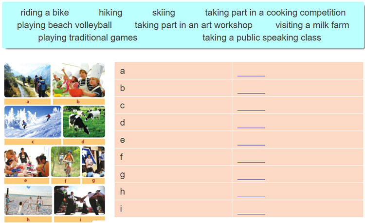 tieng-anh-lop-6-moi.Unit-3.Skills-2.1. What do you see in the photos Choose the words in the box to fill in the table. Then listen and check