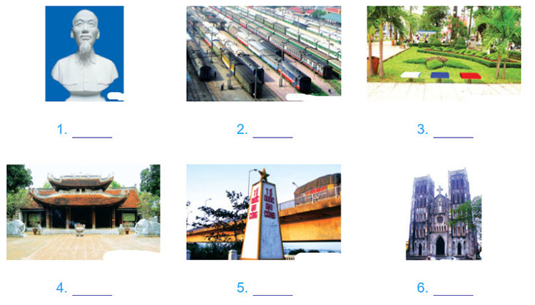 tieng-anh-lop-6-moi.Unit-4.Looking Back.1. Write the correct word for each picture