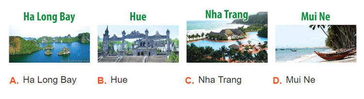 tieng-anh-lop-6-moi.Unit-5.Skills-2.1. Nick's family are in the travel agent's. They want to go on holiday. They are choosing a place from the brochure above. Which place do they choose