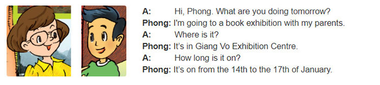 tieng-anh-lop-6-moi.Unit-7.A-Closer-Look-2.1. Read the conversation and underline the question words