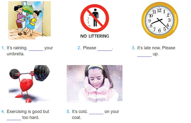 tieng-anh-lop-6-moi.Unit-8.A-Closer-Look-2.4. Write sentences to tell your friends what to do or not to do