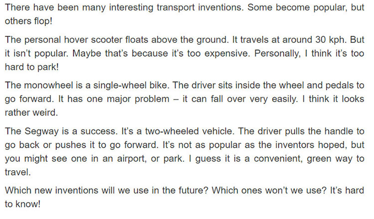 tieng-anh-lop-7-moi.Unit-11.Skills-1.2. Read the text below and find the names of the transport inventions