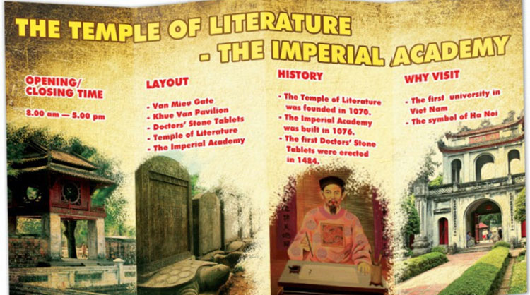 tieng-anh-lop-7-moi.Unit-6.Project.1. The following is a brochure made by Phong and his classmates after a trip to the Temple of Literature - the Imperial Academy