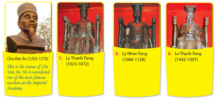 tieng-anh-lop-7-moi.Unit-6.Skills-1.4. Work in groups. Look at the four statues and talk about them. You can use the informatior in 2 and 3 and other parts of the unit to help you