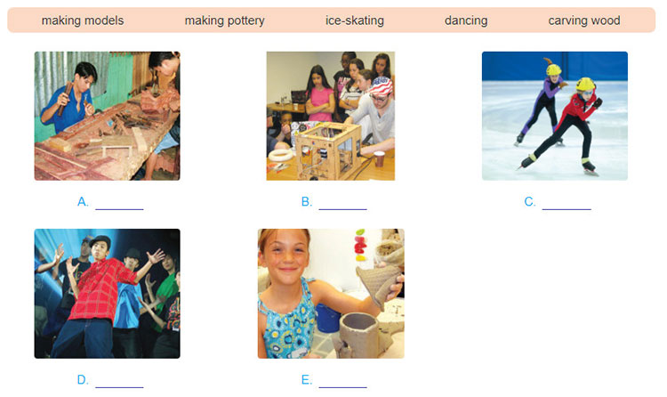 tieng-anh-lop-7-moi.unit-1.Communication.1. Match the activities with the pictures