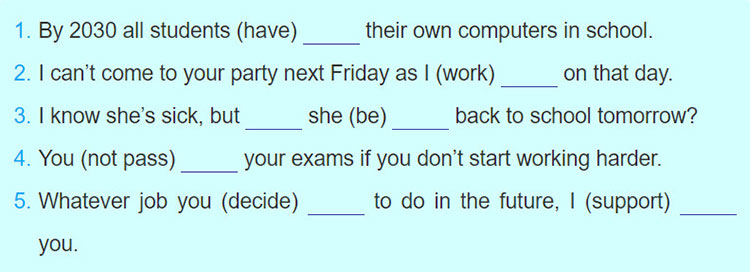 tieng-anh-lop-8-moi.unit-11.A-Closer-Look-2.1. Put the verbs in brackets into the correct tenses